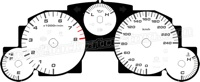 2009-2011 Mazda Miata White Gauge Face
