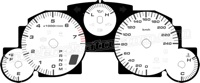 2006-2008 Mazda Miata White Gauge Face